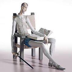 El Quijote  porcelana Lladró  magnifica figura