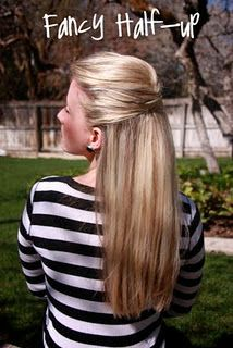 fancy half up half down hair