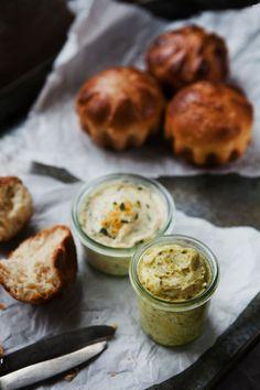 Lemon-Thyme Butter & Honey-Pistachio Butter
