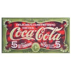 Coca Cola Coke 5 Cent 1900s Retro Vintage Tin Sign