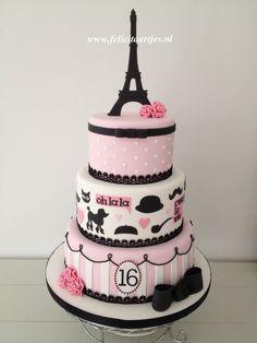 Paris Sweet 16 Cake Sweet 16 cake for my daughter's birthday. Paris Sweet 16 Cake Sweet 16 cake for my daughter's birthday. Paris Birthday Cakes, Paris Themed Cakes, Sweet 16 Birthday Cake, Paris Cakes, Girl Birthday, Fondant Cakes, Cupcake Cakes, Parisian Cake, Beautiful Cakes