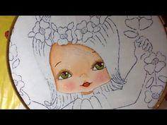 Pintura en tela niña en columpio # 1 con cony - YouTube