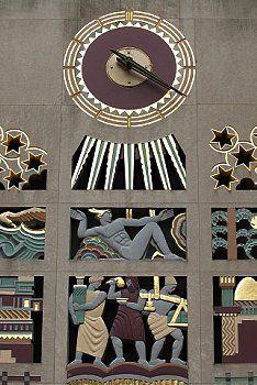 Art Deco sculptural grill at Rockefeller Center, New York City