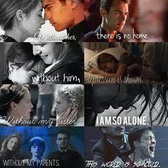 divergent, harry potter, hunger games, katniss everdeen, love