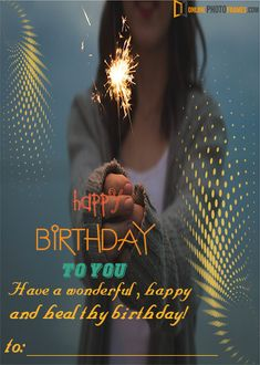 Upload a Photo of your loved ones on unique Birthday Photo Frame Online Online Photo Frames in quick time. Happy Birthday Photo Editor, Birthday Wishes With Photo, Happy Birthday Wishes Cake, Birthday Photo Frame, Happy Birthday Photos, Birthday Frames, Birthday Greetings, Personalized Photo Frames, Romantic Birthday