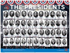 Free pdf download. Teach kids a valuable lesson about the history of the presidency with this valuable infographic showcasing all 44 U.S. Presidents.