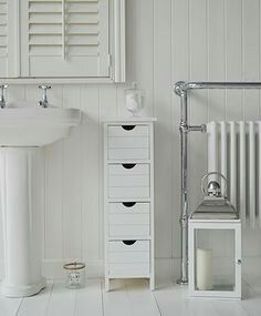 Bathroom Units Free Standing portland white narrow storage bathroom cabinet. a four drawer free