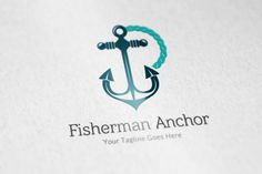 Posted by @newkoko2020 Fisherman Anchor logo by vectorlogos89 on @creativemarket