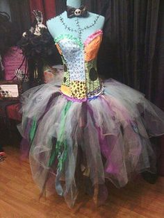 Sally inspired Unique Glow in dark corset costume, Cosplay Sz M in Clothing, Shoes & Accessories,Costumes, Reenactment, Theater,Costumes | eBay