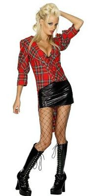 How to Create an Punk Costume 80s Party Outfits, Punk Outfits, Punk Costume, Costumes, Tartan Clothing, British Punk, 80s Punk, Punk Looks, Fishnet Top