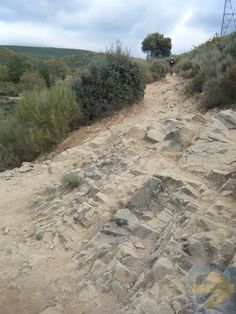Rocky Section on the Descent into Molinaseca on the Camino Frances