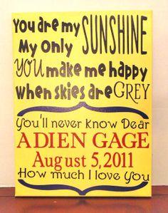 """You are my Sunshine"" Adoption Day wall art"