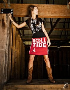 Alabama Crimson Tide Game Day Skirt by putyourgameon on Etsy, $55.00