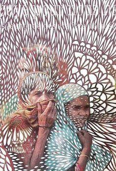 PAPERCUT Myriam-Dion. Jr Art, Paper Engineering, Arts And Crafts Movement, Mixed Media Artists, Art Classroom, Illustration Art, Illustrations, Pattern Art, Textiles