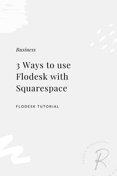 In this video I'm sharing 3 different ways you can use Flodesk (the email marketing software) with your Squarespace website, with tips and automation workarounds   byRosanna   #flodesktips #flodesktutorials #flodeskhacks #squarespacetips #emailmarketingtips Desk Hacks, Email Marketing Software, Encouragement, Website, Learning, Videos, Tips, Youtube, Studying
