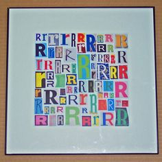 Letter R Art Print of Alphabet Collage Series by Bogate on Etsy