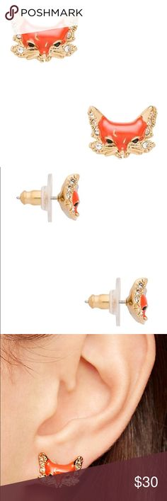 "Kate Spade ""Into the Woods"" fox stud earrings 🆕New listing!🆕 These earrings are the cutest addition to your jewelry collection! Red/orange fox face with gold accents and gold posts. Authentic Kate Spade, not from outlets. New with tags, never been worn. Comes on card and with Kate Spade dust bag. Kate Spade Jewelry Earrings"