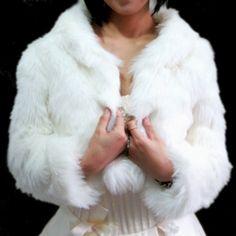 Fur wrap for winter wedding dress!