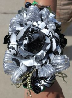 Rose & Orchid Wristlet Corsage Duck Duct Tape Flowers Colors of your choice Homecoming Corsage, Prom, Wristlet Corsage, Duct Tape Flowers, Duck Tape, Corsages, Colorful Flowers, Ducks, Dress Ideas