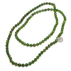 Jade halsband 80 cm