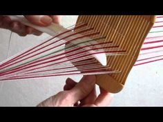 weaving narrow warp faced patterned bands - YouTube