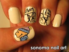 Calvin and Hobbes Nails!!! i would NEVER have this much patience though..