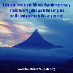 Every, yes EVERY, experience is necessary. #CYLPhoenix #WayneDyer