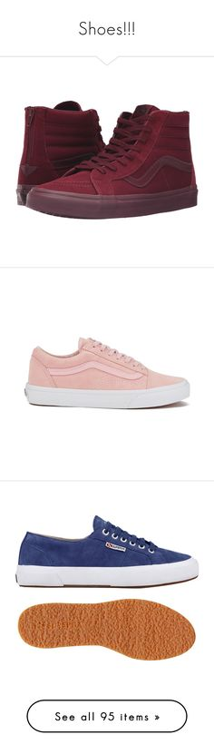 """Shoes!!!"" by theanonymousme ❤ liked on Polyvore featuring shoes, sneakers, leather upper shoes, zip sneakers, rubber shoes, lacing sneakers, rubber footwear, pink, woven sneakers and vans sneakers"