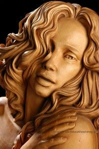 Longing, basswood, carving by Fred Zavadil