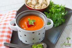 Supa crema de ardei copti - Arome de poveste Chana Masala, Thai Red Curry, Vegan, Ethnic Recipes, Food, Recipes, Romania, Cream, Essen