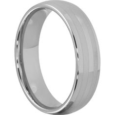 Ares Mens Double Inlays Wedding Bands Engraved 6mm