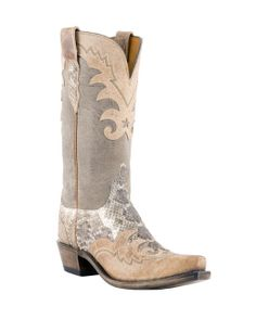 luchesse cowgirl boots | Lucchese Women's Western Rattlesnake Mad Dog Goat Wingtip Boot