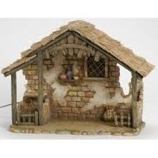 Inch Lighted Stable Only by Fontanini Nativity Stable, Christmas Nativity Set, Nativity Crafts, Christmas Villages, Christmas Crafts, Christmas Decorations, Christmas Holidays, Fontanini Nativity, Miniature Houses