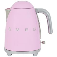 Smeg 50's Retro Kettle. It is a quirky statement piece to style your kitchen. It has a 360 degree swivel base which means it is easier for both left and right handed people when it comes to making tea! Comes with 2 Years Warranty.