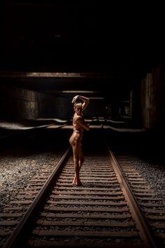 """Great works are performed not by strength but perserverance."" - Samuel Jackson . . . . . #model #malemodel #nude #photography #photo #railroad #underground #light #beautiful #art #life #urban #urbanlandscape #humanlandscape #urbanexploring"
