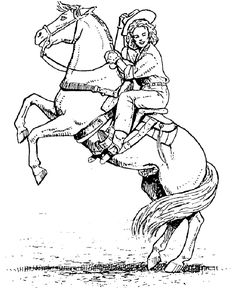 Side View Mare Colt Horse Coloring Pages Western Horse Coloring