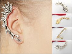 Ear Clip Fashion Earring A stylish clip earring for ladies, teens and girls alike. Best to wear during outdoor activities.  Product Features:   Earring Type: Clip Earrings Gender: Women Style: Trendy Material: Crystal Metals Type: Zinc Alloy Shape\pattern: Plant Note: Please allow 21-46 days of shipping time for the delivery of your items. Please PM for order and price.