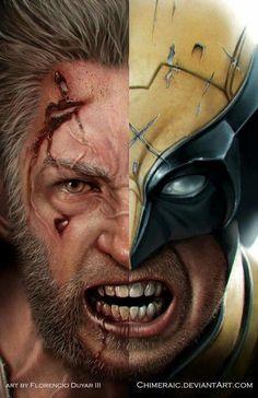Old Man Logan/The Wolverine Wolverine Movie, Wolverine Art, Logan Wolverine, Logan Xmen, Wolverine Cosplay, Marvel Art, Marvel Dc Comics, Marvel Heroes, Marvel Avengers