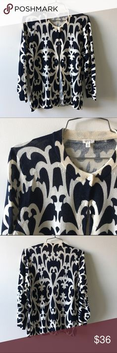J. Crew patterned cardigan Excellent condition, size Medium. Perfect for winter! J. Crew Sweaters Cardigans
