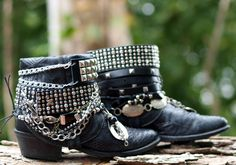 upcycled cowboy boots from TheLookFactory on Etsy