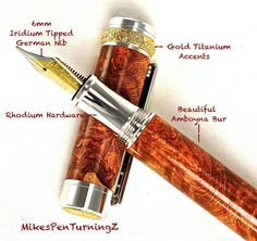 Handcrafted Wooden Pen Fountain Pen by MikesPenTurningZ on Etsy, $189.00