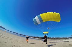 Coffs Harbour 6,000ft, 12,000ft or 15000ft Tandem Skydive on the Beach Jump out of a plane at 6,000ft, 12,000ft or 15,000ft. Enjoy an incredible and exhilarating freefall before your parachute opens and you float above the beach and the Solitary Islands Marine Reserve. Land on the beach gracefully with your experienced skydive instructor.Enjoy a beach skydive and choose between a 6,000ft, 12,000ft or 15,000ft skydive experience. This incredible and sometimes life changing expe...