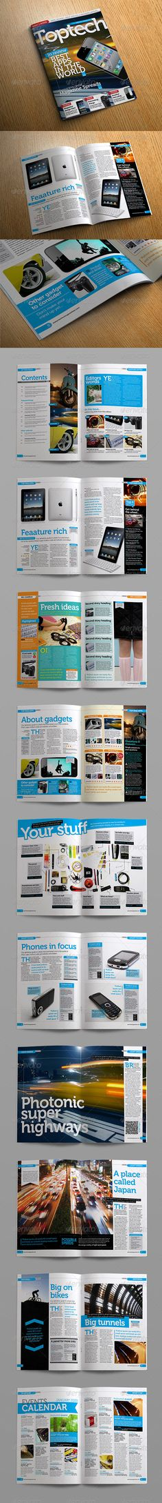 Tech Reviews Magazine Template  #GraphicRiver