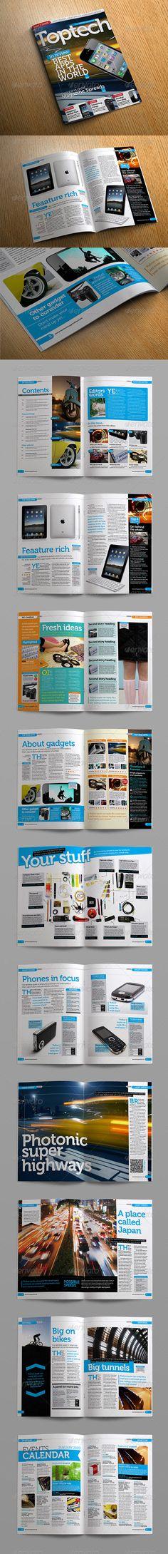 Tech Reviews Magazine Template - Magazines Print Templates