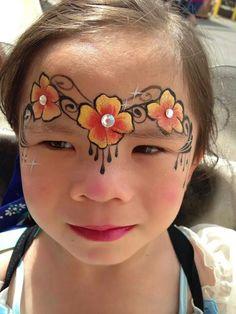 By Gina Niemi flower headband #facepaint princess fairy