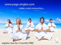 FREE membership this week on Yoga Singles - the dating website dedicated to connection people who love #Yoga #Meditation #Spirituality #HealthyLiving  www.yoga-singles.com