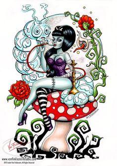 Alice in Zombieland  Schmokin' Caterpillar by Isobelvonfinklestein