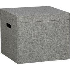 Misc - grey felt file box in office accessories | CB2