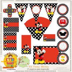 Kit Festa Mickey by Lu Ifanger e Cris Oliveira - R$7,50 : Boutique do Scrap