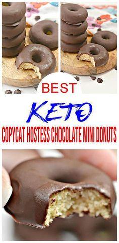 Easy Donut Recipe, Donut Recipes, Keto Recipes, Chocolate Donuts, Chocolate Treats, Chocolate Recipes, Diet Desserts, Easy Desserts, Dessert Recipes